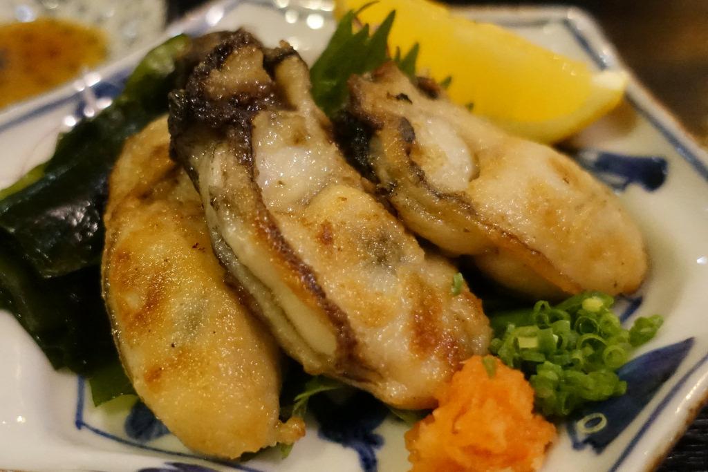 牡蠣あぶりぽん酢仕立て