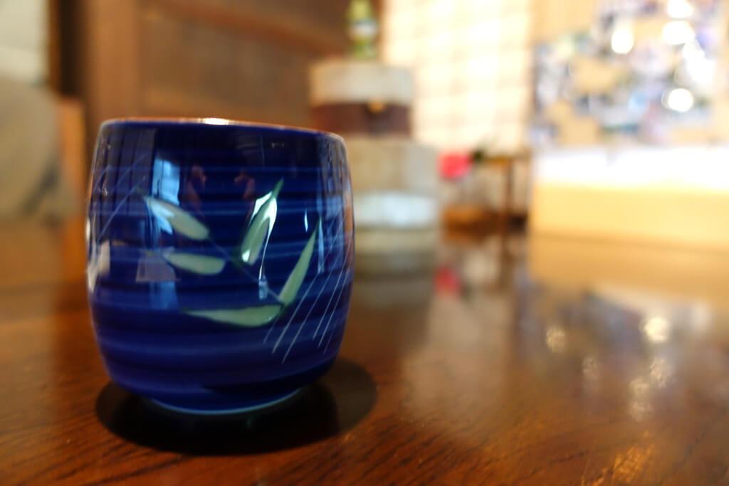 お茶を飲みながらリラックス