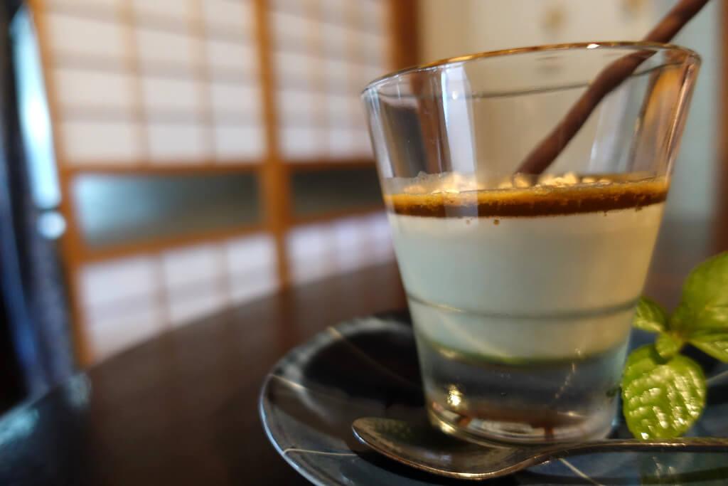 緑茶豆乳プリン