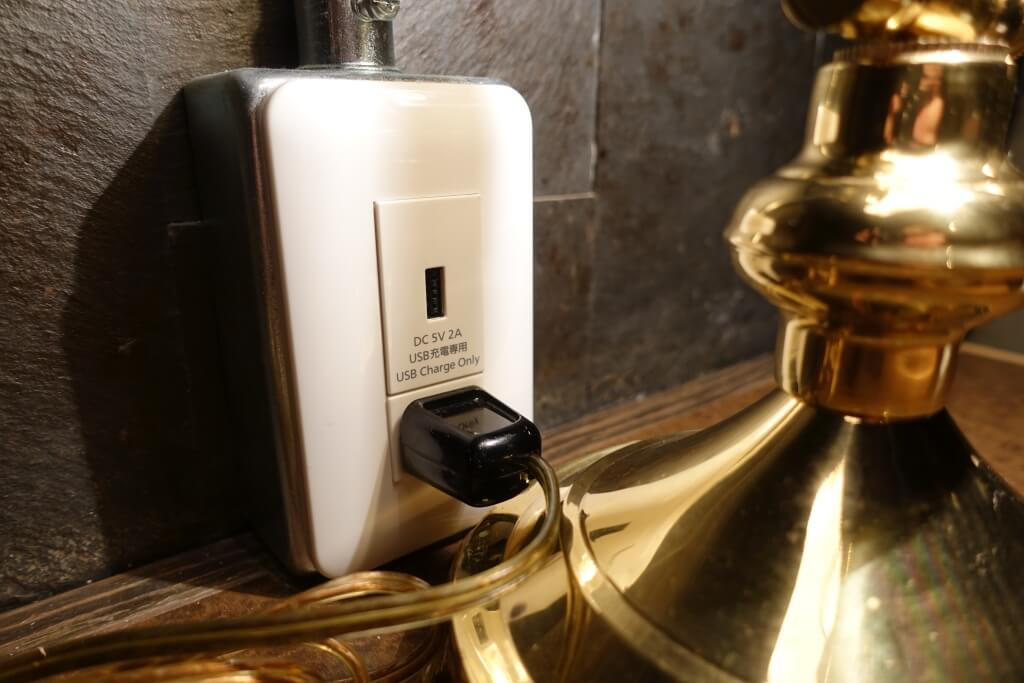 半個室では充電も可能