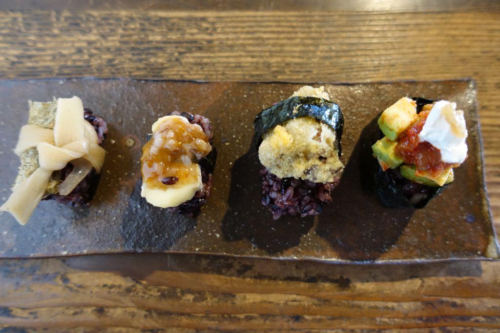 有機黒米の発酵ベジ寿司