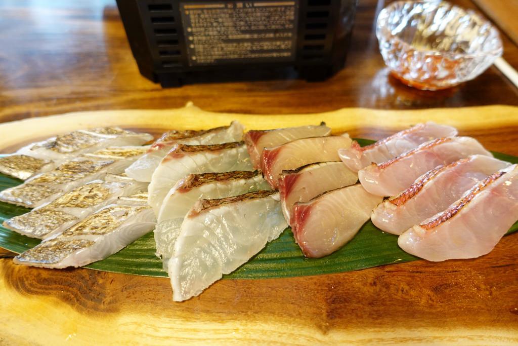 太刀魚・鯛・鰆・金目鯛のしゃぶしゃぶ