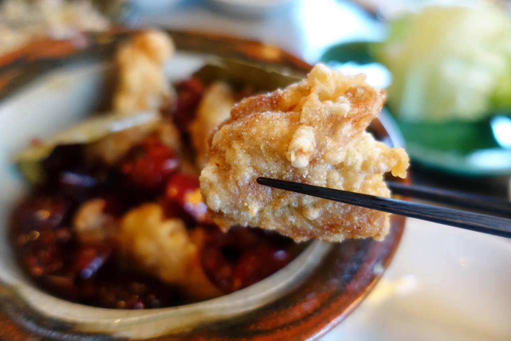 鶏の唐揚げ 唐辛子風味