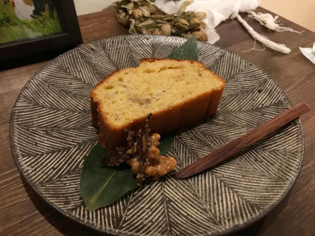 椎茸パウンドケーキ