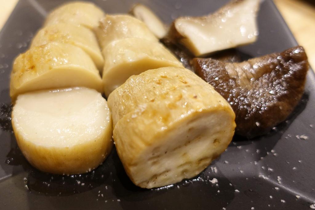 長野県産の焼きエリンギ
