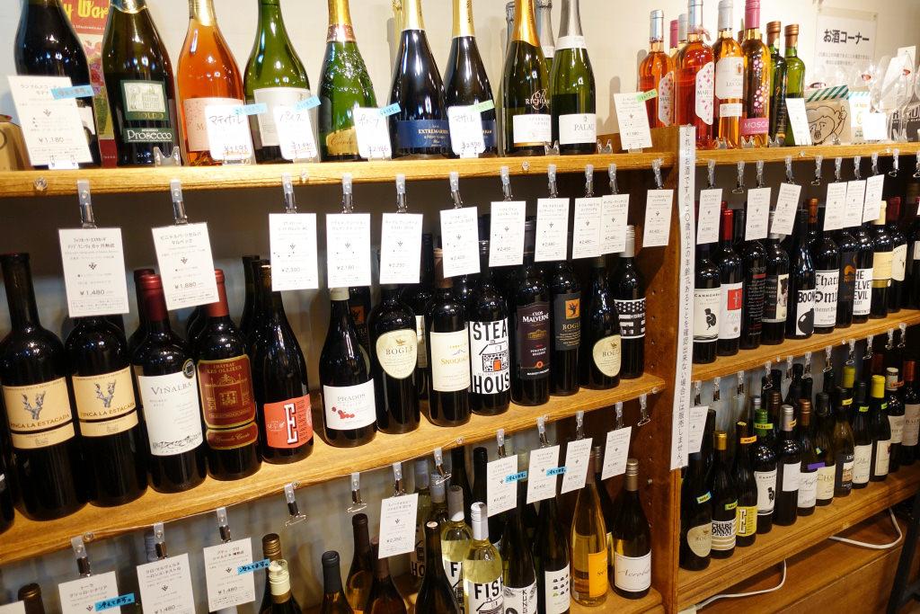 店内で販売しているワイン