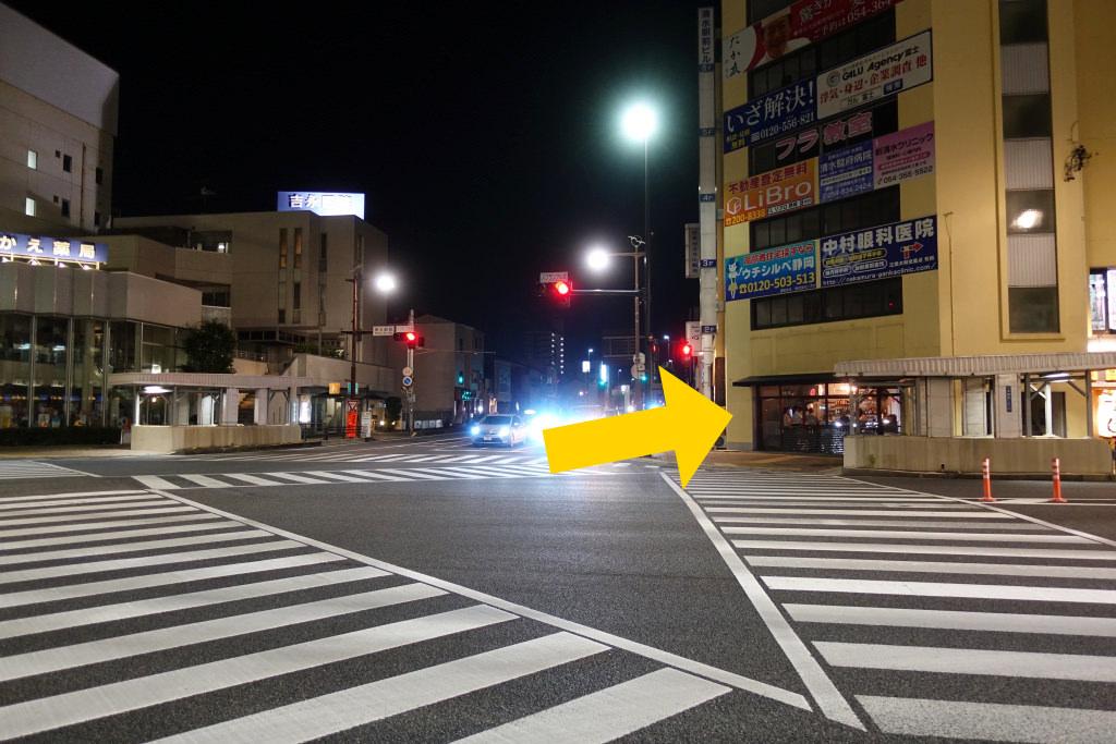 JR清水駅前の交差点