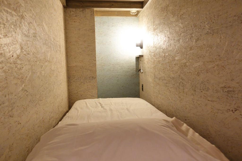 ドミトリーのベッド内