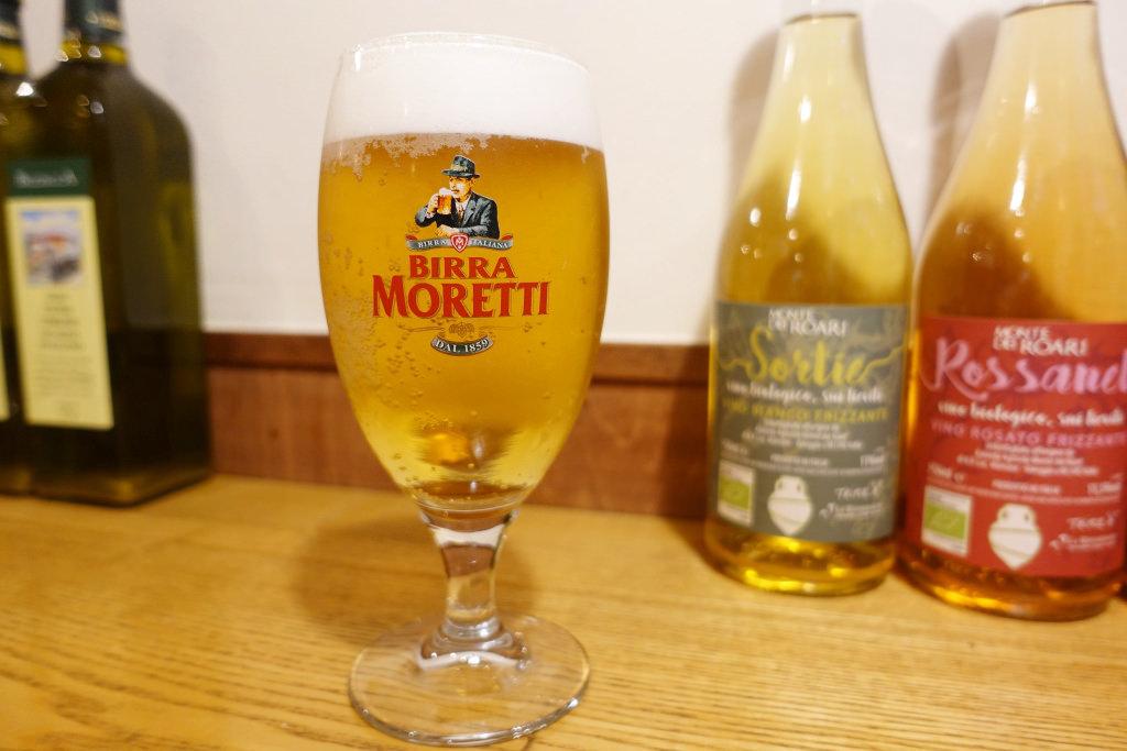 「モレッティ」の大グラス