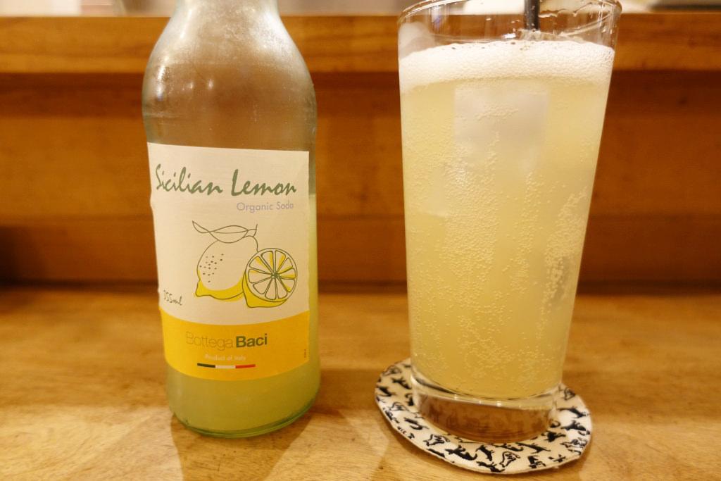 イタリア産オーガニックレモンソーダ