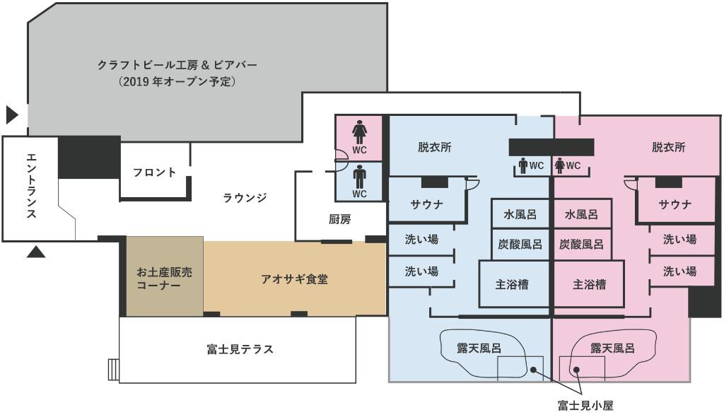館内の見取り図