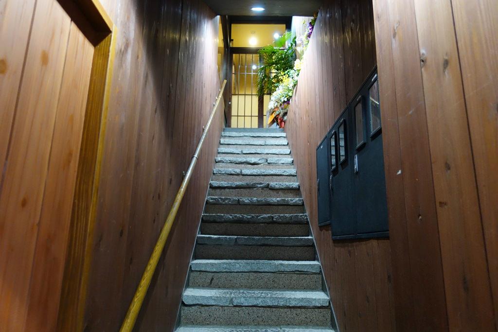 鳥左衛門(ちょうざえもん)の階段