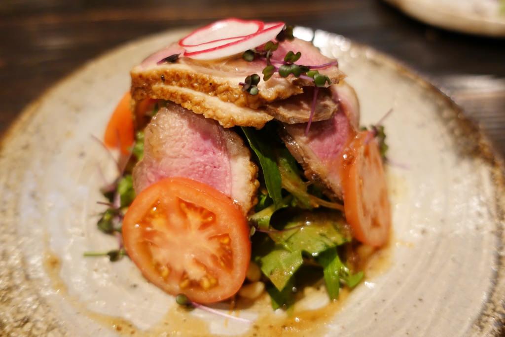 水菜と鴨ロースのサラダ