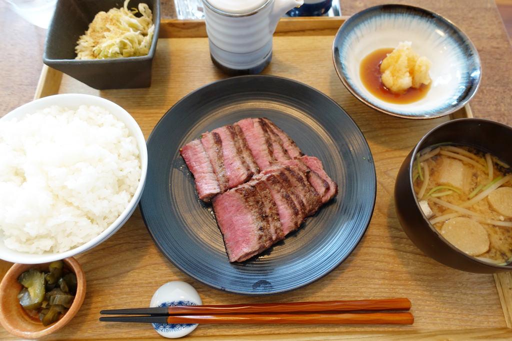 おろしポン酢ステーキ定食