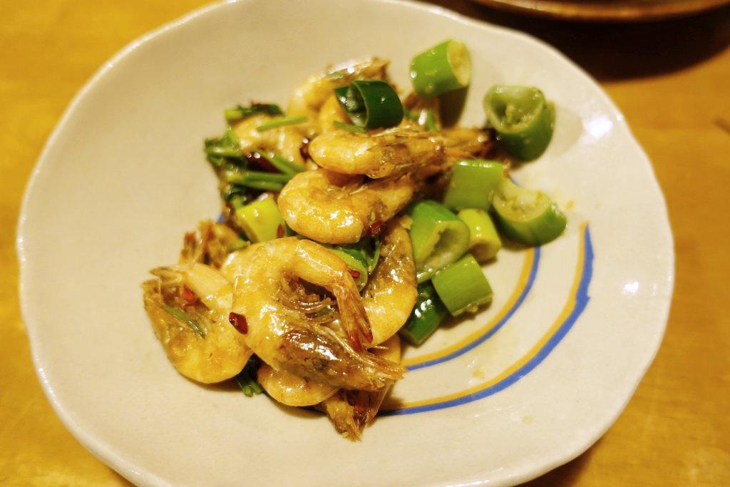 芝エビのピリ辛炒め 台湾風