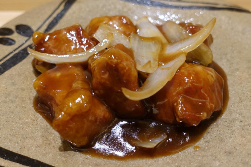 中華黒酢の黒酢豚