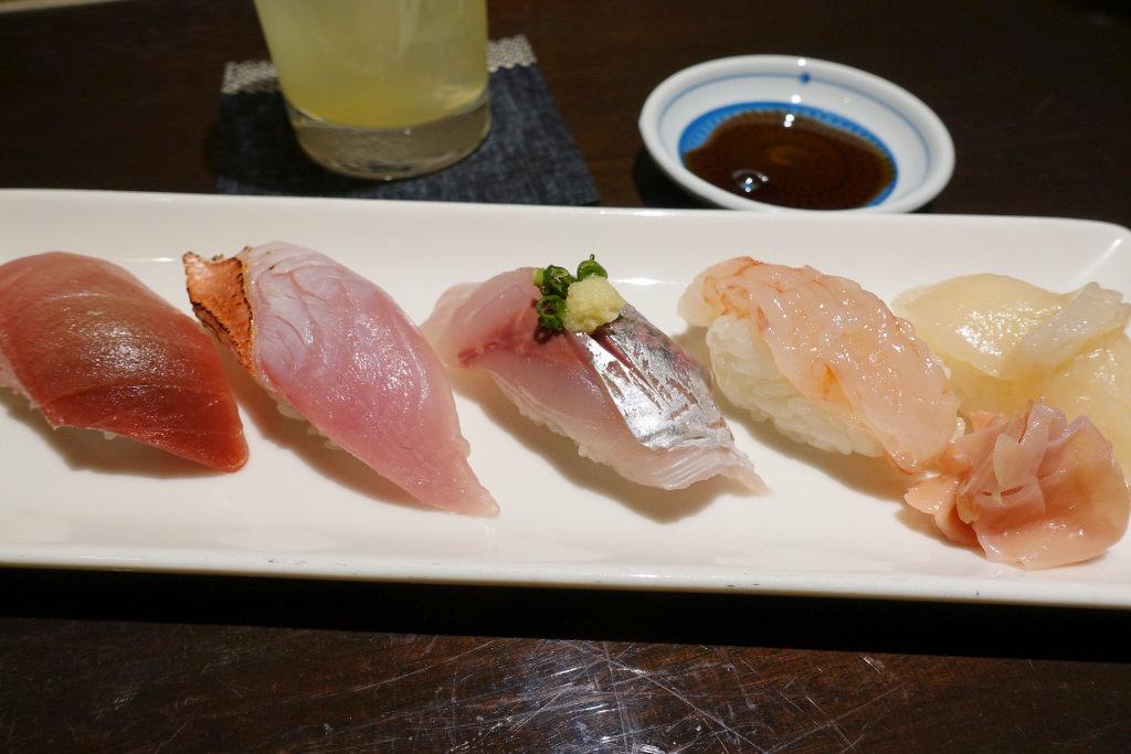 寿司おすすめ五貫