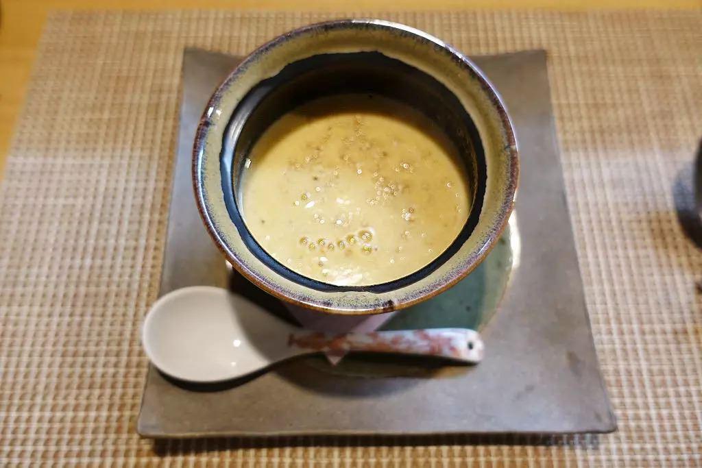 静岡県産コシヒカリとゴボウのポタージュ