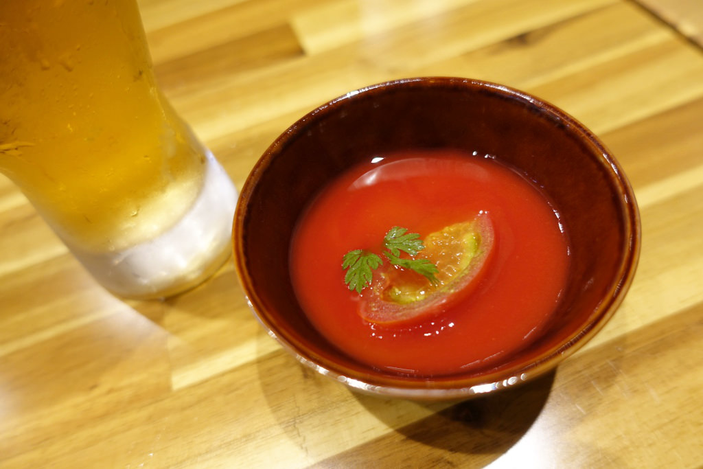 トマトの冷製茶わん蒸し