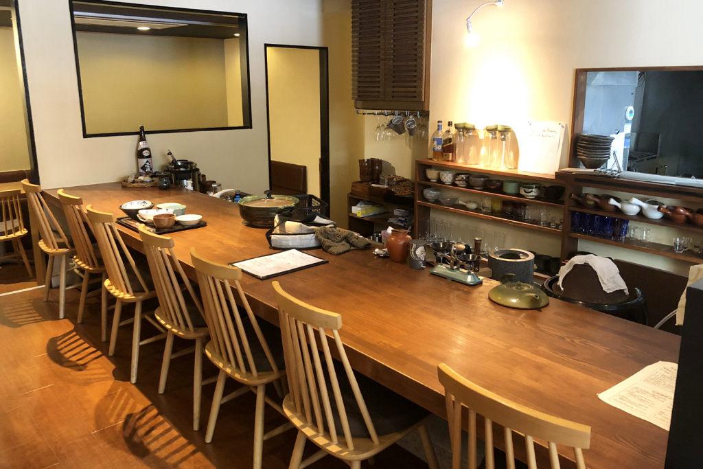 「お抹茶こんどうの食堂」の店内