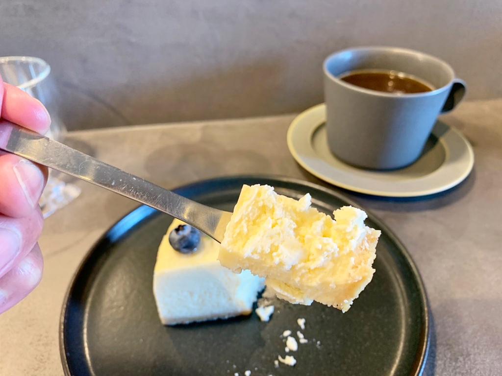 チーズケーキ実食