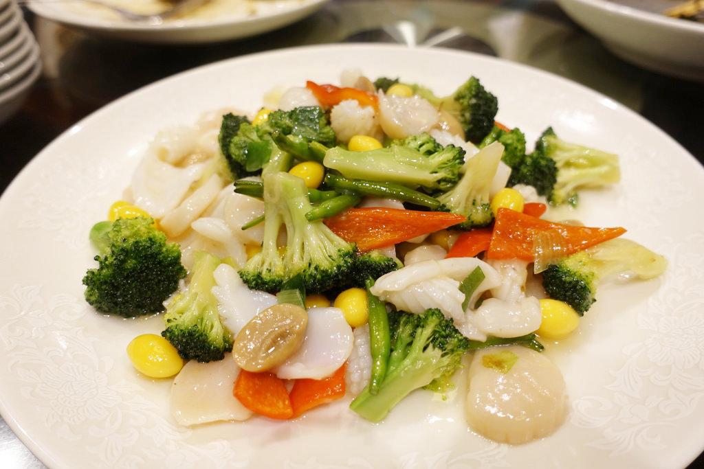 海鮮と野菜の炒め