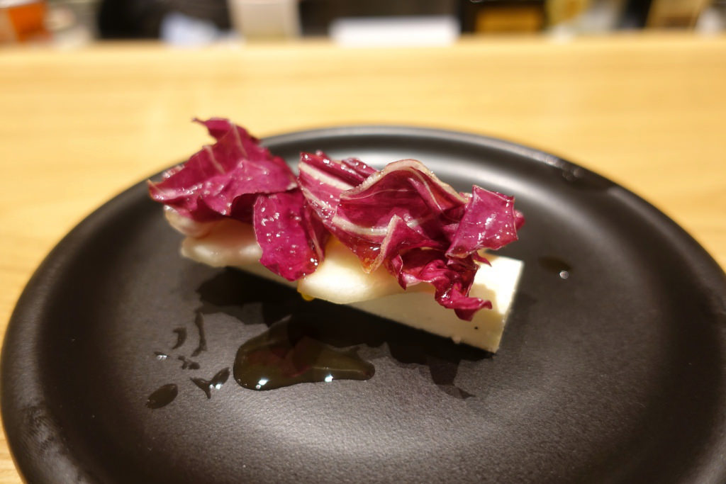 自家製リコッタチーズのババロア