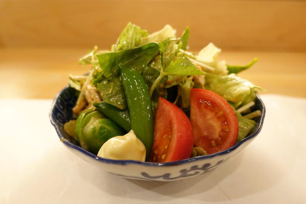 蒸し鶏ピリ辛サラダ