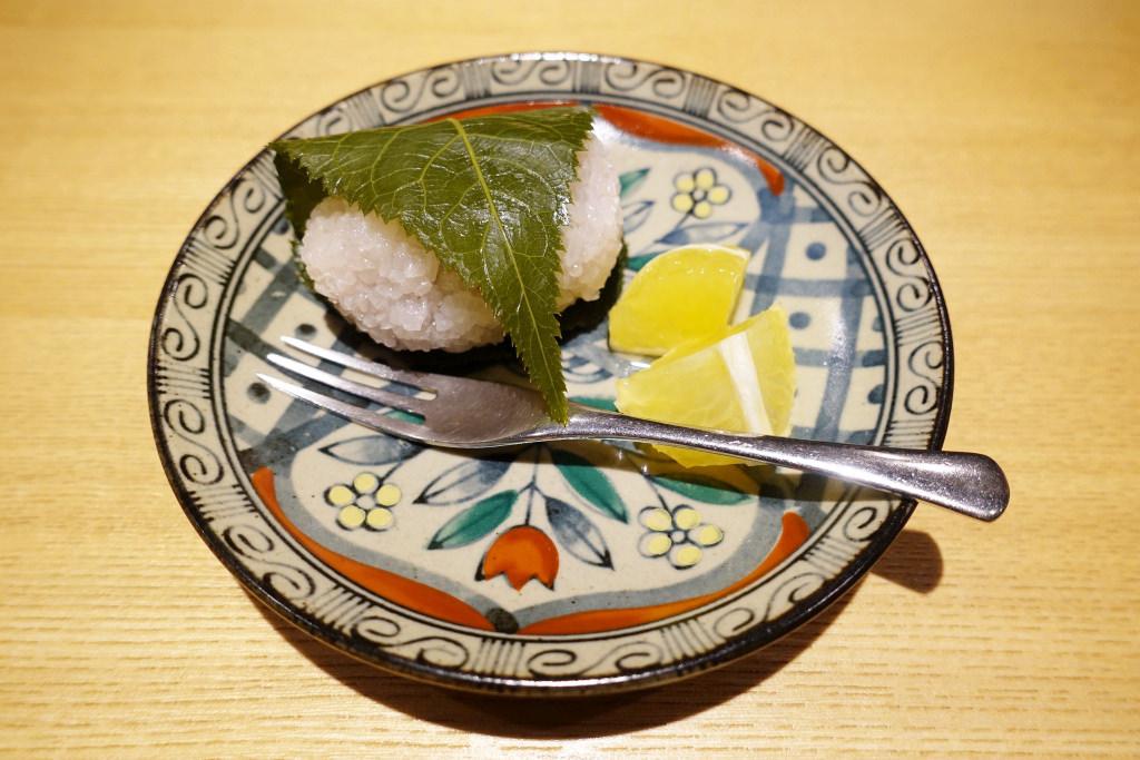 桜餅と黄金柑