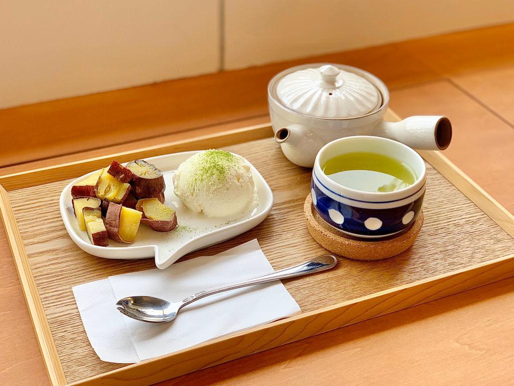 つぼ焼き芋とアイス