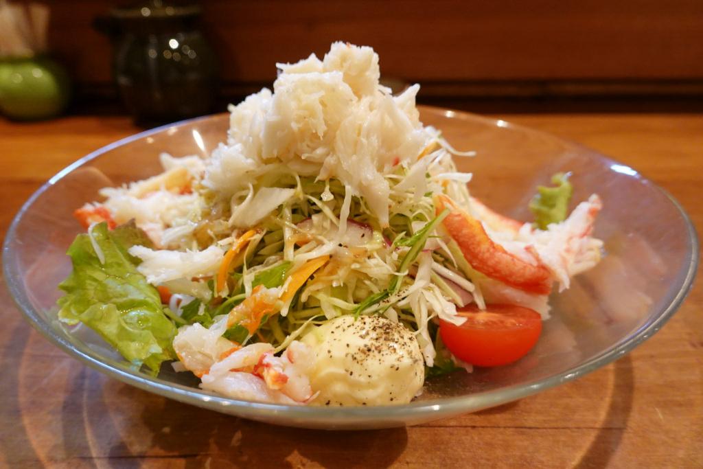 カニのせサラダ