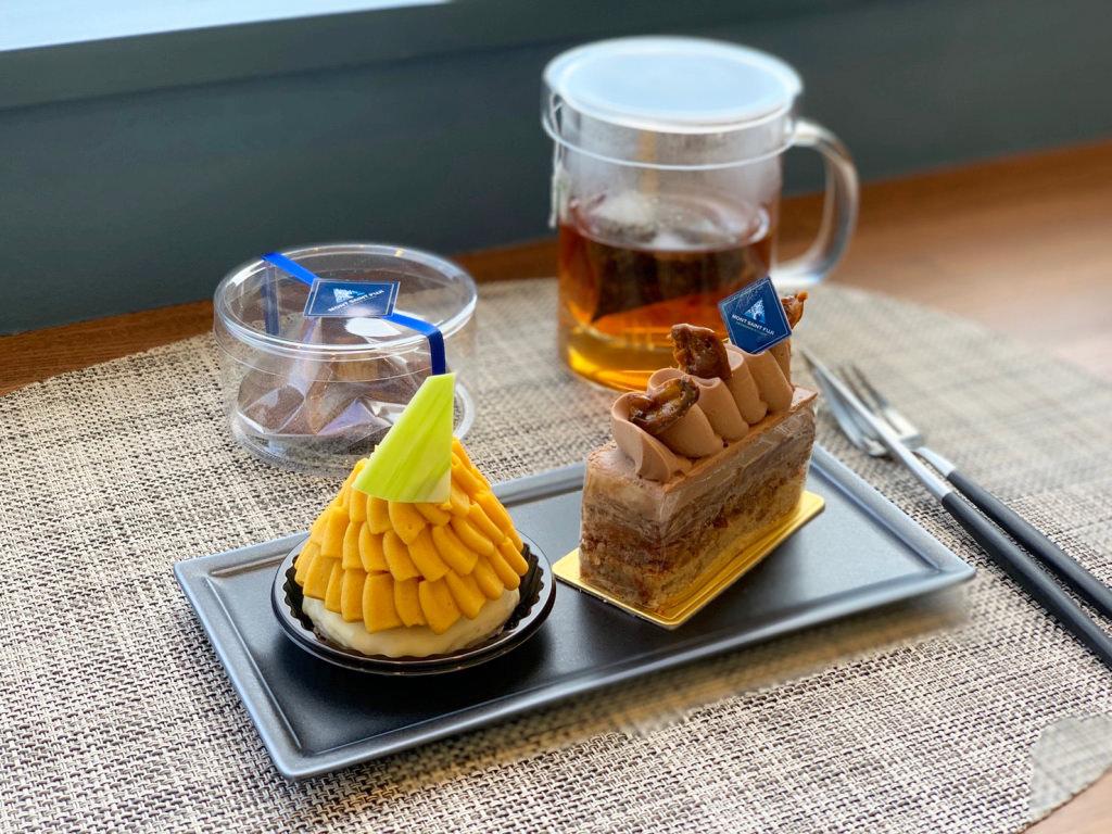 カカオエットとモンブランパンプキンと和紅茶