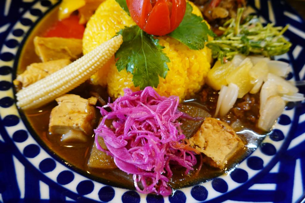 根菜と厚揚げのカレー