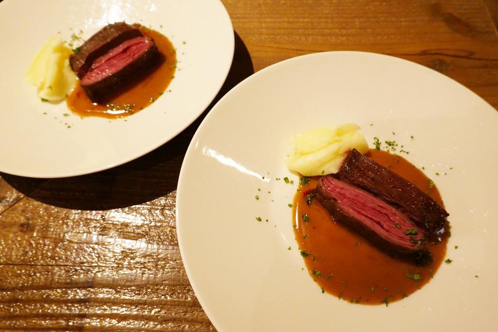 牛ハラミのステーキ マデラソース