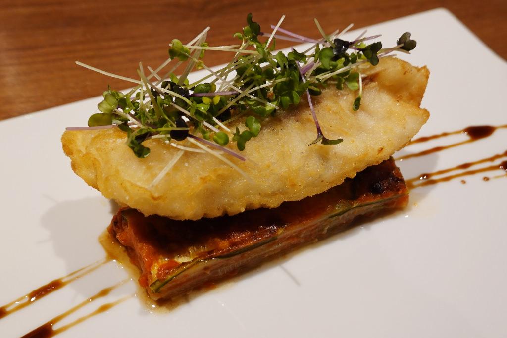 夏鱈のフリット ズッキーニとトマトのオーブン焼き